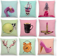 Pineapple Cotton Linen Pillow Case Sofa Waist Throw Cushion Cover Home Decor