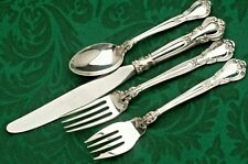Chantilly by Gorham Sterling Silver 4pc DINNER SIZE place Setting, modern blade