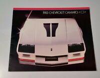 1983 Chevy camaro Dealer Sales Brochure Color Chart chevrolet original z28