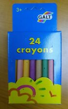 24 High Quality Wax Crayons x 12 Packs - JOB LOT - PARTY BAG - GALT - MADE IN UK