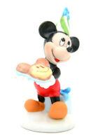 Disney Characters Figurine Micky Maus mit Kuchen Porzellan handbemalt
