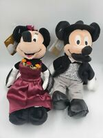 VINTAGE Disney Store NWT Bean Plush Lot WILD WEST Mickey & Minnie Mouse HTF