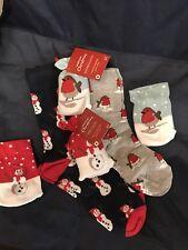 Mens & Ladies Christmas Socks Size 7-11 & 4-7 With Sock Bag RRP £5.00 NEW Robin