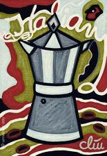 JACQUELINE DITT - Coffee Italian Style A4 DRUCK n.Gemälde Bild Kaffee Bilder