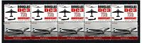THE DOUGLAS DC3 75th ANNIV STRIP OF 10 MINT STAMPS, KLM AIRWAYS