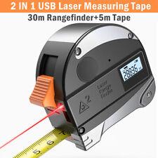 Handheld Digital Laser Point Distance Meter Measure Tape Range Finder 30M