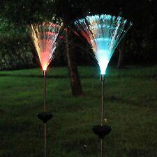 2Pcs Solar Powered Lamp Optical Fiber Garden Solar Light Novelty Color Changing