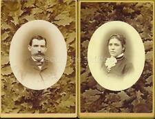 CABINET CARD PHOTOS: Post Mortem MEMORIALS Young MAN & WOMAN Husband & Wife?