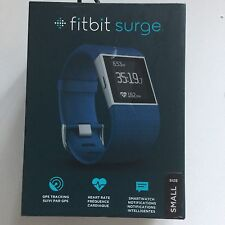 Fitbit Surge Fitness Watch, Heart Rate Monitor, Color : Blue Strap,  Size Small
