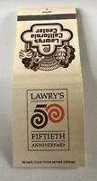 Matchbook Lawry's Fiftieth Anniversary Los Angeles CA
