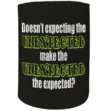Stubby Holder Unexpected Expected Funny Novelty Birthday Gift Joke Beer Can