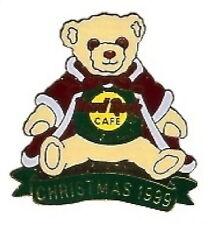 Hard Rock Cafe YOKOHAMA 1999 CHRISTMAS PIN Teddy Bear Santa - HRC Catalog #10617