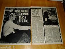 * LUCIANA GILLI ELVIS PRESLEY  =CLIPPING RITAGLIO FOTO PHOTO = 1964 =DDC