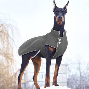 Dog Coat for Big Dogs Winter Clothes for Rottweiler Labrador 3XL 4XL 5XL Grey