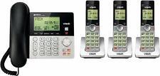 Vtech 3 Handset Cordless/ 1 Handset Corded Answering System Phones - CS6649-3