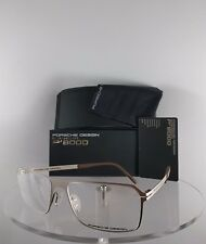 New Authentic Porsche Design P 8255 B Eyeglasses Titanium P'8255 Matte Silver