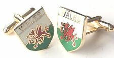 Welsh Wales Dragon Enamel Crested Cufflinks (N197) Gift Boxed