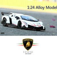 20CM Sports Car Lamborghini VENENO 1:24 Diecast Alloy Model With BOX