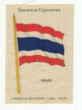 "1934 NATIONAL FLAGS  Tobacco ""Silk"" SIAM Thailand"