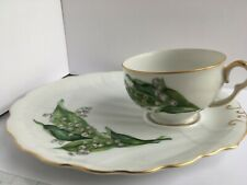 Lily of the Valley MAYTIME Snack Set TEA CUP PLATE Trim GOLD Cftsmn China Japan
