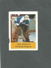 1974-75 Acme Loblaws Hockey Bob Johnson Goalie Pittsburgh Penguins RARE!