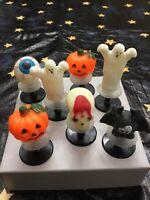 7 Vintage Halloween Pop-Up-Springy Toys Pumpkins, Ghosts, skeleton,Bat &Eyeball