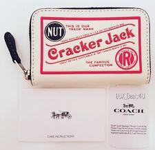 NWT Coach Vintage Nostalgia Cracker Jack Mini Wallet Chalk White Limited Edition