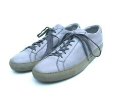 COMMON PROJECTS ACHILLES GRAY LEATHER LOW TOP SNEAKERS SIZE 43 US 11