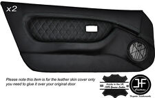 GREY DIAMOND STITCH 2X FULL DOOR CARD LEATHER COVERS FITS MG MGF MK1 1995-1999