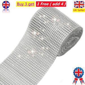 10 Yards 24 Row Bling Diamond Mesh Wrap Ribbon Crystal Roll Wedding Party Decor