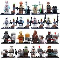 CUSTOM LEGO - STAR WARS - MINIFIGURES FULL SET UK STARWARS MINI FIGS - JEDI NEW