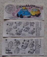 """Satz BPZ  """"Knuddel Flitzer"""" 1994 alle 2 verschiedenen"""