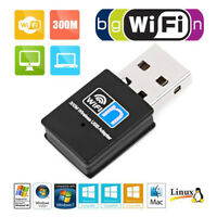 300Mbps Wireless USB Wi-fi Wlan Adapter 802.11 b/g/n Network LAN Dongle TM