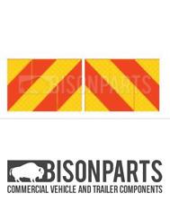 + Camion & Rimorchio aece posteriore Marker schede/Chevron (COPPIA) BP76-153 in alluminio