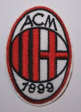 "AC Milan~Soccer Football Patch~Italy~Embroidered~2 7/8"" x 1 7/8""~Iron or Sew on"