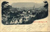 Gruss aus Geislingen a.d. Steige um 1900 Totalansicht Württ. Mischfrankatur