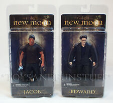 "New - EDWARD & JACOB - TWILIGHT New Moon 7"" FIGURES Vampire Werewolf NECA 2009"
