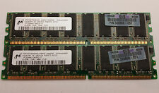 Micron / HP - 1GB Kit - 2x 512MB DDR 400mhz PC3200 NON ECC RAM Desktop PC Memory