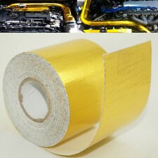 Gold Foil Heat Insulating Tape Hose Wrap Reflective Shield Adhesive 50mm x 10m