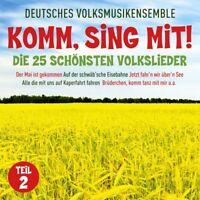 DEUTSCHES VOLKSMUSIKENSEMBLE-KOMM,SING MIT-DIE 25 SCHÖNSTEN VOLKSLIEDER 2CD NEU