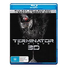 Terminator Genisys 3D Blu-ray + Std Blu-ray New Region B - Arnold Schwarzenegger