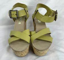 Simply Vera Wang Women's  Cork Wedge Open Toe Buckle Sandals Size 6.5M