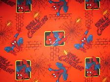 Spiderman Spider Man Super Heroes Comics Wall Crawler Cotton Fabric FQ