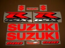GSXR 600 reflective custom red signal decals stickers graphics kit set 2001 2004