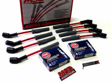 CHEVY LS1 LS2 LS3 LS6 MSD RACING WIRES & IRIDIUM SPARK PLUGS + FREE EMBLEMS RED