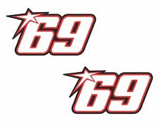 Nicky Hayden Stickers Superbike MotoGP Moto GP 69 Helmet Sticker X2 Car Window