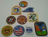 Vintage Boy Scout Patches Lot 10 SCOUT SPRING FALL WINTER CAMPOREE 1969-91 LOGAN