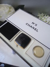 Priceless Vintage CHANEL No5 Solid Parfum Enamel Compact +Refill New Nr Mint Box