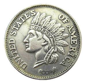 US Hobo 1851 Indian Head  Zombie Dollar novelty fantasy coin.