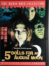 5 BAMBOLE PER LA LUNA D'AGOSTO 5 DOLLS FOR AN AUGUST MOON - Bava DVD Fenech OOP